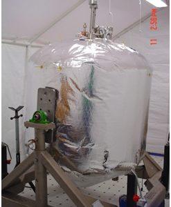 LZBO Tank in SLI TDEC Cleanroom