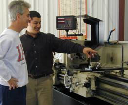 SLI Engineers Inspecting Machining Equipment